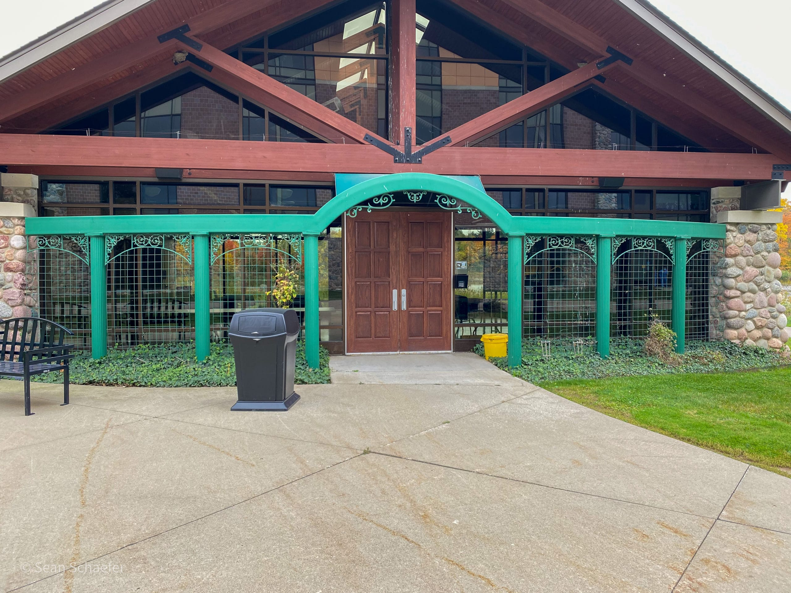 Custom metal (steel and aluminum) trellis and arch at Henry Ford Hospital West Bloomfield