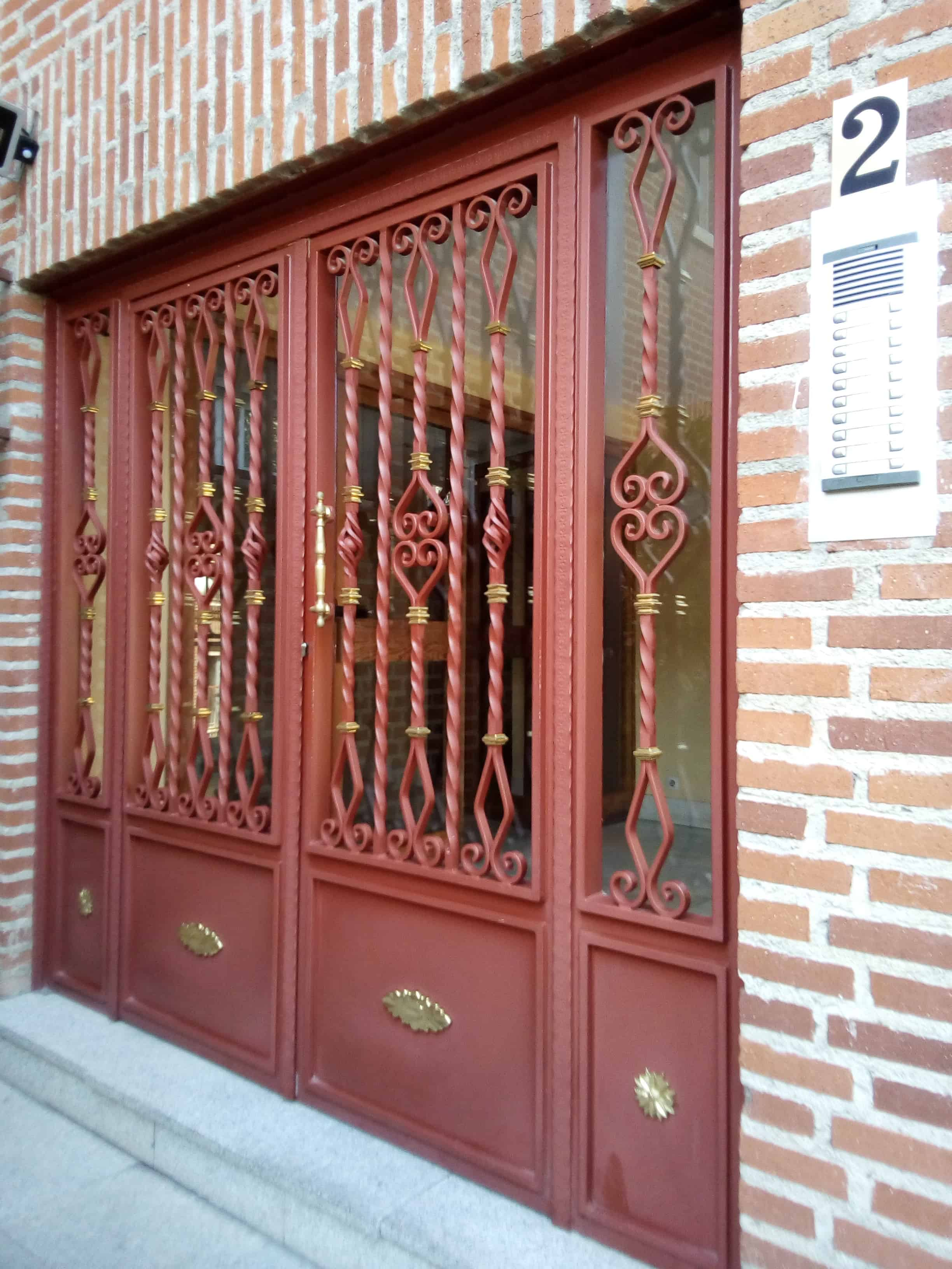 Custom metal doors